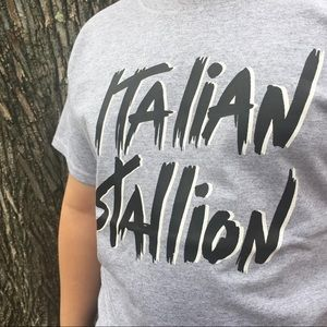 Vintage Italian Stallion Iron-On On New T-Shirt